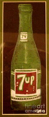 Art Print featuring the pastel 7up Bottle by Joseph Hawkins