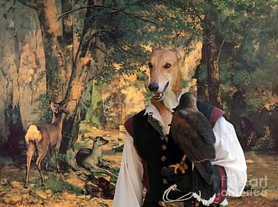 Greyhound Art Canvas Print Art Print by Sandra Sij
