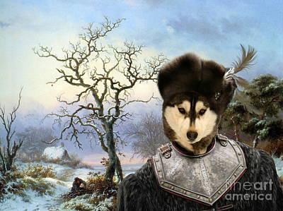 Siberian Husky Art Canvas Print Art Print by Sandra Sij
