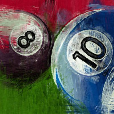 Rail Digital Art - 8 10 Billiards by David G Paul