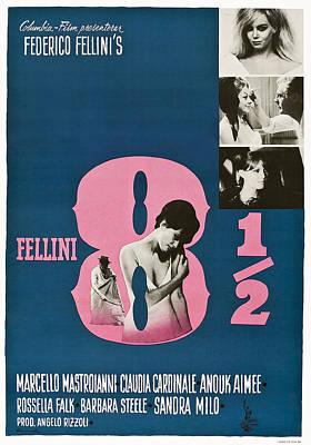 Fellini Photograph - 8 12, Swedish Poster Art, 1963 by Everett