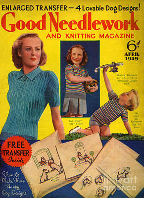 1930s Uk Good Needlework And Knitting Art Print by The Advertising Archives