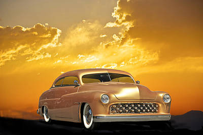 1950 Mercury Custom Art Print by Dave Koontz