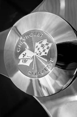 1960 Photograph - 1960 Chevrolet Corvette Steering Wheel Emblem by Jill Reger