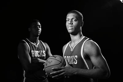 Photograph - 2014 Nba Rookie Photo Shoot by David Dow