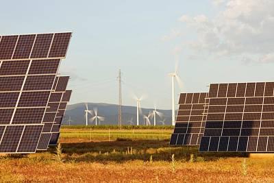A Photo Voltaic Solar Power Station Art Print