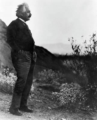 Einstein Photograph - Albert Einstein by Emilio Segre Visual Archives/american Institute Of Physics