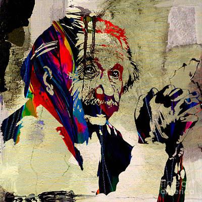 Albert Einstein Print by Marvin Blaine