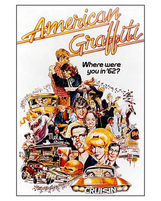 American Graffiti  Art Print by Silver Screen