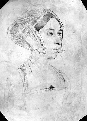 Carousel Collection Drawing - Anne Boleyn (1507-1536) by Granger
