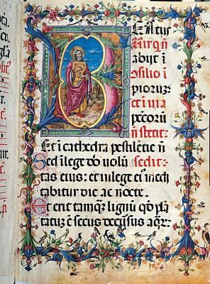 Anonymous Sienese Painter, Psalter Art Print