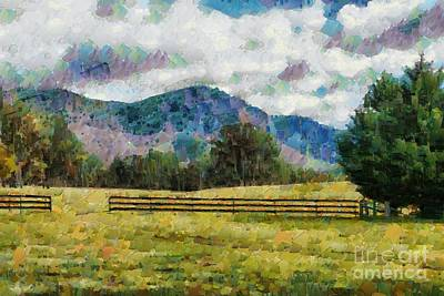 Digital Art - Araluen Valley Views by Fran Woods