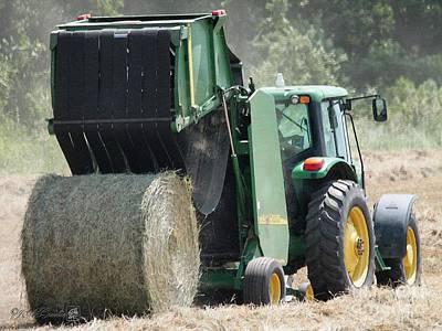 Soil Digital Art - Baling Hay by J McCombie