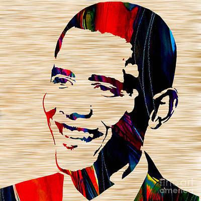 Barack Mixed Media - Barack Obama by Marvin Blaine