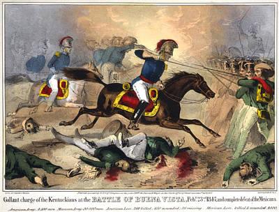 Battle Of Buena Vista, 1847 Art Print