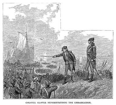 Battle Of Long Island, 1776 Art Print