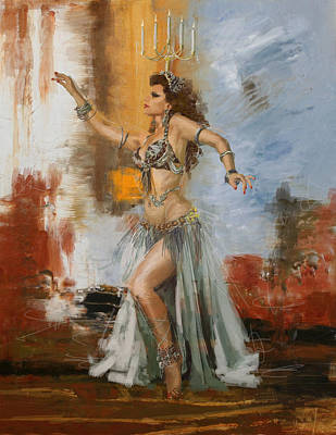 Abstract Belly Dancer 20 Art Print by Corporate Art Task Force