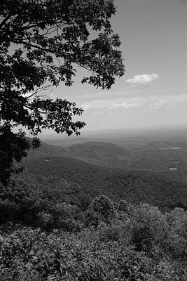 Photograph - Blue Ridge Mountains - Virginia Bw by Frank Romeo