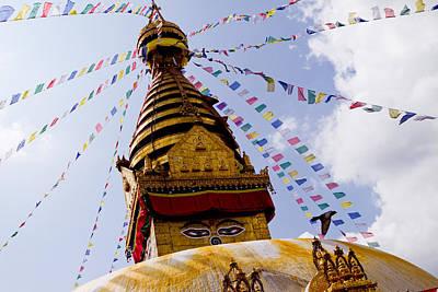 Bodhnath Stupa In Nepal Art Print by Raimond Klavins
