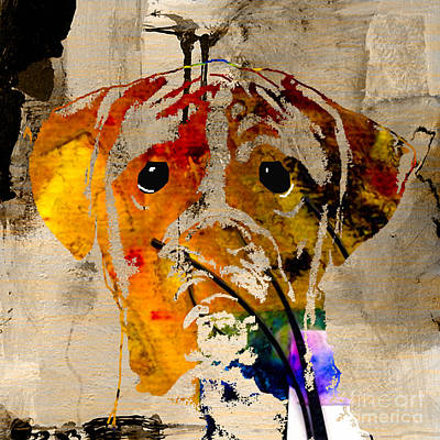 Boxer Mixed Media - Boxer by Marvin Blaine