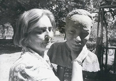 British-born Sculptress Completes Bust Of President Nyerere Art Print by Retro Images Archive