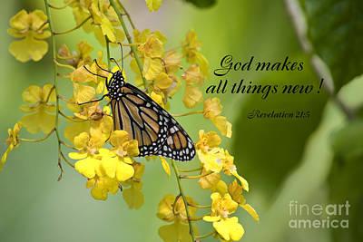 Butterfly Scripture Art Print