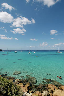 Best Sailing Photograph - Cala Saona Is A Lovely Little Cove by Nano Calvo