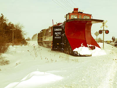 Canadian Pacific Snow Plow Art Print