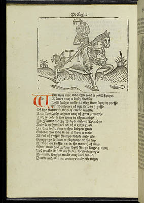 Canterbury Tales Art Print by British Library