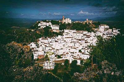 Casares Photograph - Casares, Spain. Whitewashed Town by Ken Welsh
