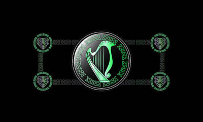 Celtic Harp Art Print