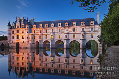 Fantasy Royalty-Free and Rights-Managed Images - Chateau Chenonceau Night - Loire Valley France by Brian Jannsen