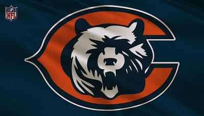 Galaxies Photograph - Chicago Bears Uniform by Joe Hamilton