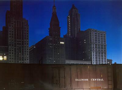 Illinois Central Railroad Photograph - Chicago Railroad, 1943 by Granger