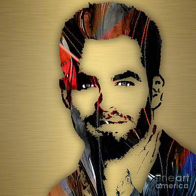 Pop Star Mixed Media - Chris Pine Collection by Marvin Blaine