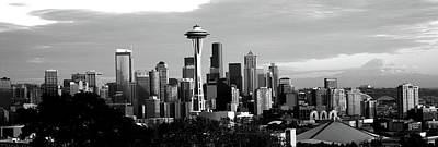 B.b. King Photograph - City Viewed From Queen Anne Hill, Space by Panoramic Images