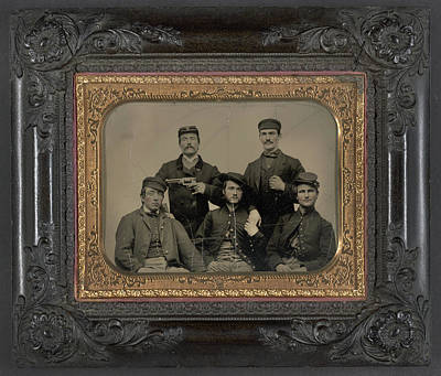 Civil War Soldiers, C1863 Art Print by Granger