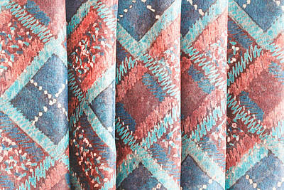 Colorful Cloth Art Print by Tom Gowanlock