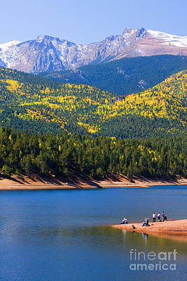 Steven Krull Royalty-Free and Rights-Managed Images - Crystal Lake on Pikes Peak by Steven Krull