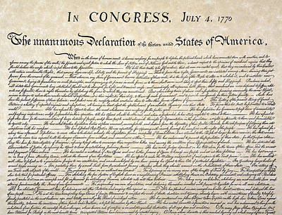 Declaration Of Independence Art Print by Granger