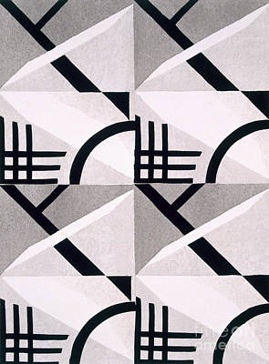 Constructivist Drawing - Design From Nouvelles Compositions Decoratives by Serge Gladky