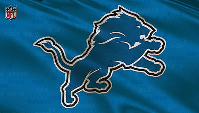 Detroit Lions Uniform Art Print