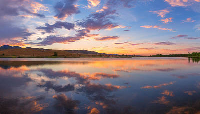 Colorado Sunset Photograph - 8 Dollar Sunset by Darren  White