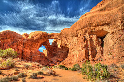 Photograph - Double Arch In Arches National Park by Pierre Leclerc Photography