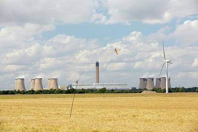 Kestrel Photograph - Drax Power Station In Yorkshire by Ashley Cooper