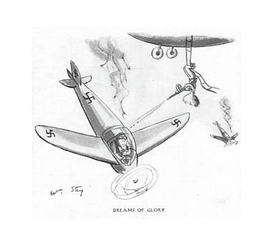 Airplane Drawing - Dreams Of Glory by William Steig