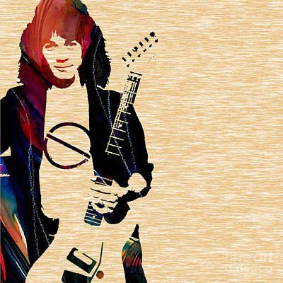 Van Halen Mixed Media - Eddie Van Halen Collection by Marvin Blaine