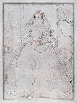 Ruff Drawing - Elizabeth I (1533-1603) by Granger