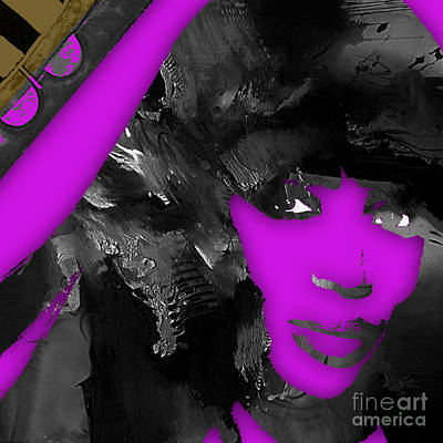 Mixed Media - Empires Naomi Campbell Camilla by Marvin Blaine