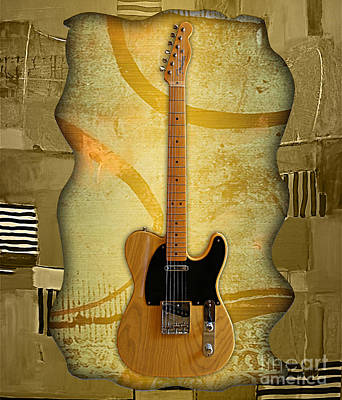 Guitar Mixed Media - Fender Telecaster Collection by Marvin Blaine